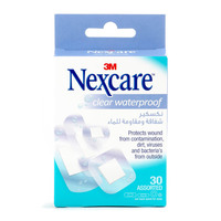 Nexcare�Clear Waterproof Bandage 30 Assorted Pieces