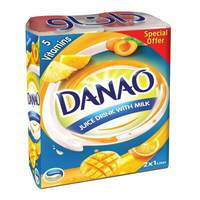 Danao Juice Drink with Milk 5 Vitamins 1L x 2 packs