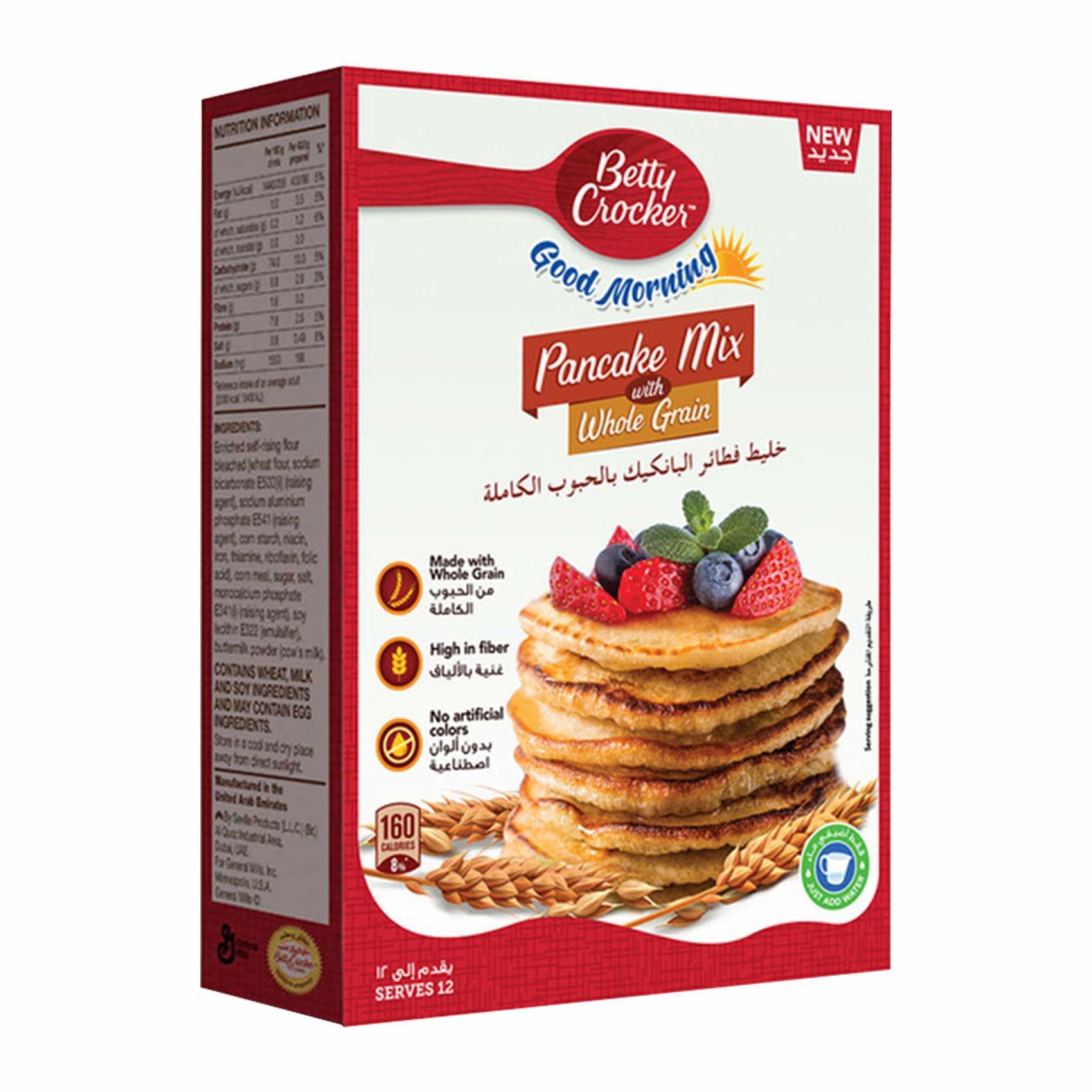 Buy Betty Crocker Pancake Mix Whole Grain 500 G Online Shop Food Cupboard On Carrefour Saudi Arabia