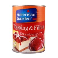 American Garden Strawberry Flavoured Topping & Filling 595g