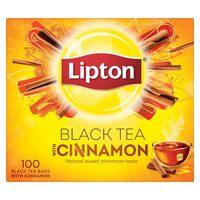 Lipton Flavoured Black Tea Cinnamon 100 Teabags