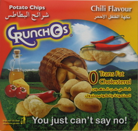 Crunchos Chili Flavour Potato Chips 25g x Pack of 14
