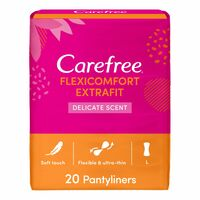 Carefree Panty Liners Flexicomfort Extrafit Fresh Pack Of 20