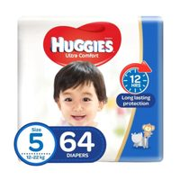 Huggies Ultra Comfort Baby Diapers Size 5 12-22kg 64 Counts