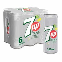 7Up Diet Soft Drink 330ml x Pack of 6