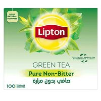 Lipton Pure Non-Bitter Green Tea 1.5g x Pack of 100