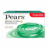 Pears oil clear & glow pure glycerin & lemon flower extract soap 125 g × 3