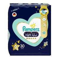 Pampers 6 premium care night diapers 14+ kg x 30