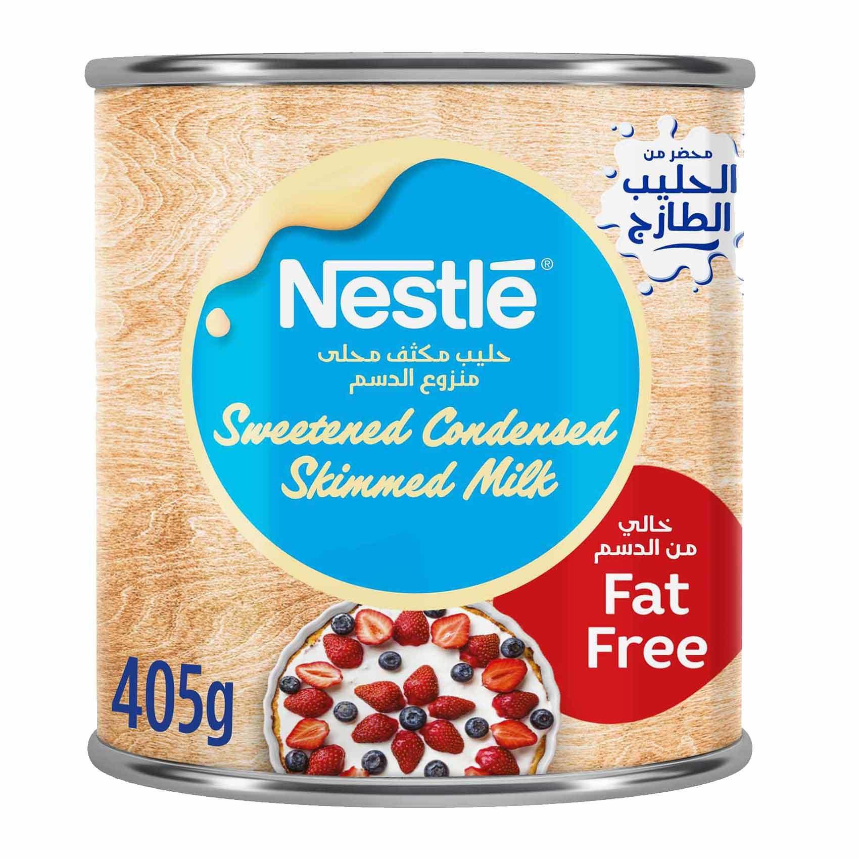 Buy Sweetened Condensed Milk Fat Free 405 G Online Shop Food Cupboard On Carrefour Saudi Arabia