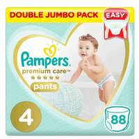 Pampers Premium Care Baby Diapers Pants Size 4 88 Counts