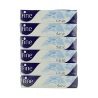 Fine Classic White Tissues 100 Sheets x Pack of 6