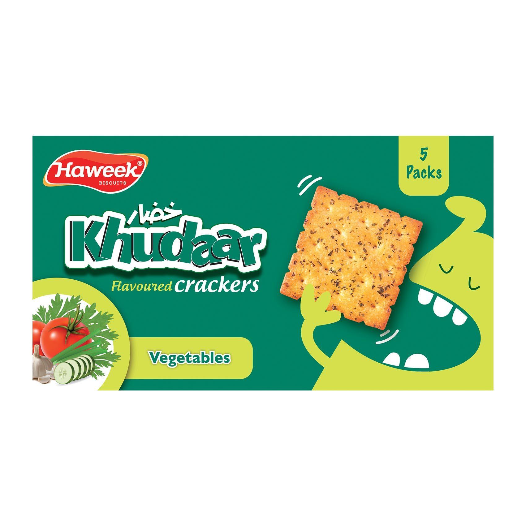 Buy Haweek Khudar Flavoured Crackers Vegetables 110 G Online Shop Food Cupboard On Carrefour Saudi Arabia