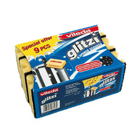 Vileda Glitzi Sponge Safe Grip Pack Of 9