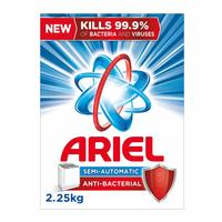 Ariel high foam anti bacterial powder detergent 2.25 Kg