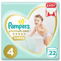 Pampers Premium Care Pants Diapers Carry Pack Size 4 Large 22 Count 9-14 kg