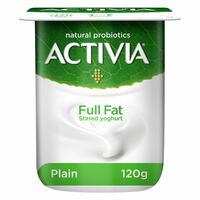 Activia Full Fat Stirred Plain Yoghurt 125g
