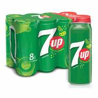 7UP Carbonated Soft Drink Cans 295ml x Pack of 8