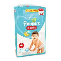 Pampers 4 pants 9 - 14 kg x 66