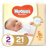 Huggies New Born Baby Diapers Size 2 4-6kg 21 Counts