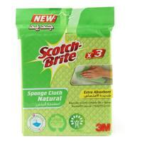 Scotch Brite Natural Sponge Cloth 3 Piece