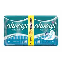 Always night ultra thin dry top-layer extra Long 2 x 7 - 14 pads