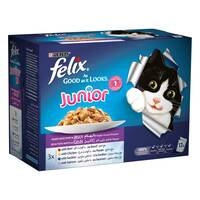 Purina Felix Junior Mixed Selection Wet Cat Food 100g x Pack of 12