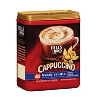 Hills Bros Fat Free French Vanilla Cappucino Instant Coffee Mix 453g