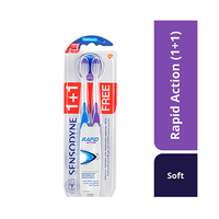 Sensodyne Toothbrush Rapid Action Soft 1+1 Free