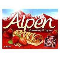 Alpen Strawberry and Yoghurt Cereal Bar 29g x Pack of 5