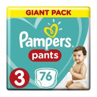 Pampers pants size 3 giant pack 6-11 Kg × 76 diapers