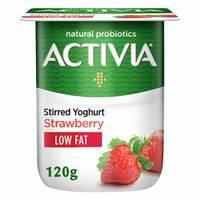 Activia Low Fat Stirred Strawberry Yoghurt 120g