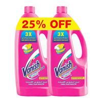 Vanish multi use fabric stain remover 2 × ( 900 ml + 100 ml ) 25 % off