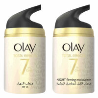 Olay Face Moisturizer Total Effects Duo Anti Ageing Day Cream 50g And Firming Night Cream 50g