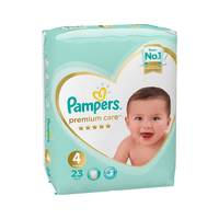 Pampers premium care diapers size 4 maxi carry pack x 23 diapers