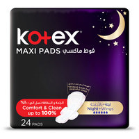 Kotex Maxi Night Pads with Wings Pack of 24