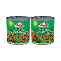 Al Wadi Al Akhdar Peas & Carrots 400GRX2 20% Off