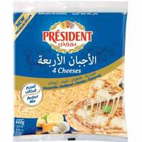 President Shredded 4 Cheeses 400g