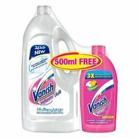 Vanish for Whites Fabric Stain Remover 1.8L+500ml