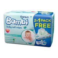 Sanita bambi baby wipes protective cream 192 pieces