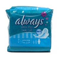 Always Ladies Pads Ultra Thin Long 7 Pads