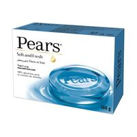 Pears Soft & Fresh Soap Bar with Mint Extracts 98% Pure Glycerin 125g