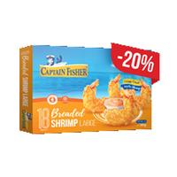 Captain Fisher Breaded Shrimps Large 300GR -20% Off