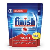 Finish all-in-1 powerball dishwasher detergent tablets lemon 42 tablets 685 g