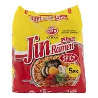 Ottogi Korean Style Instant Noodles Jin Ramen Spicy 120g x Pack of 5