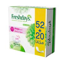 Freshdays Daily liners Normal 72 pads