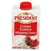 President Full Fat Whipping Cream 200ml