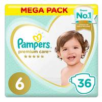 Pampers Premium Care Diapers Value Pack Size 6 36 Count 15+ kg