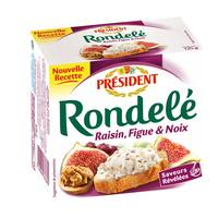 President Rondele Raisin Fig Walnut 125g