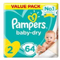Pampers New Baby-Dry Diapers Size 2 Mini 3-8kg Jumbo Pack 64 Count