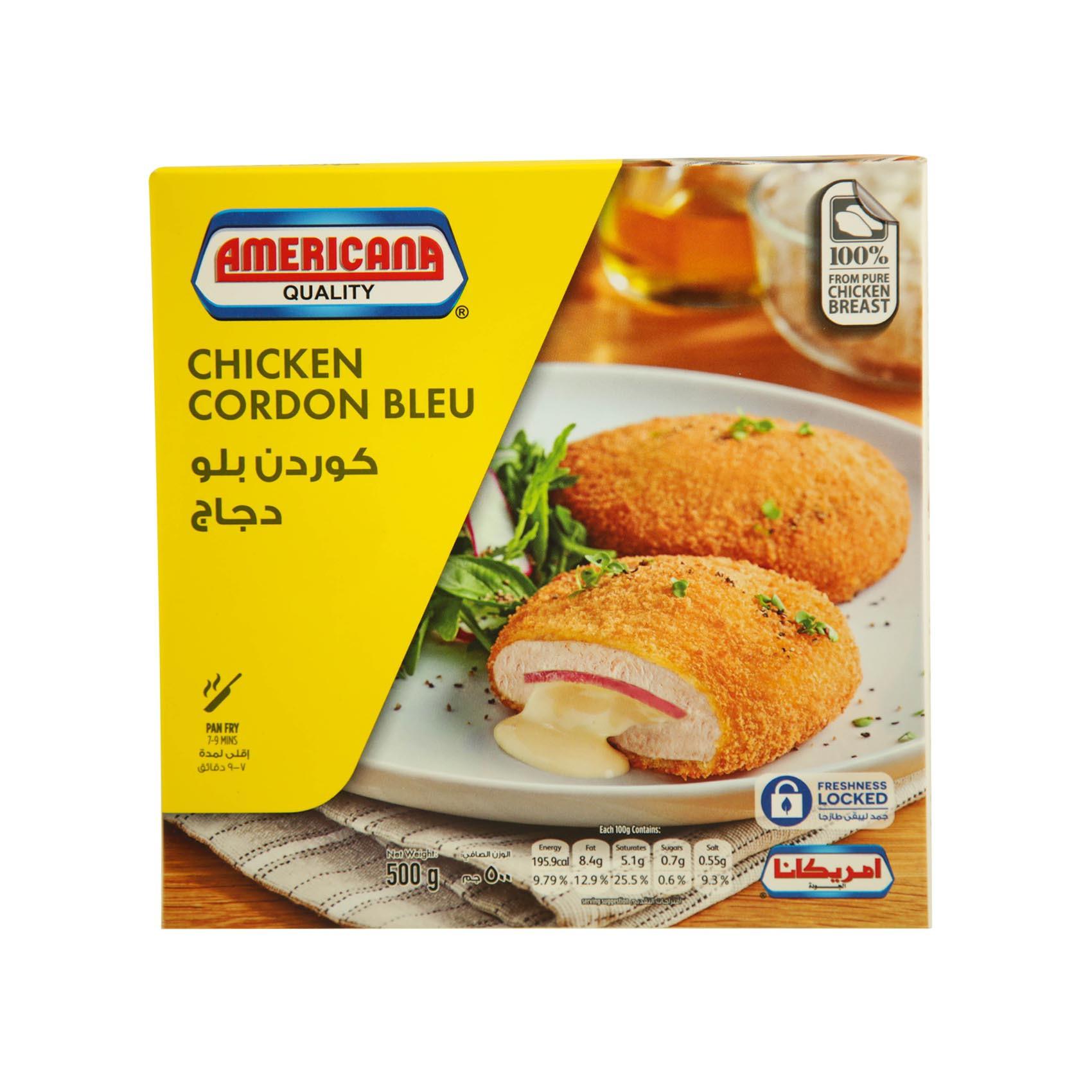 Buy Americana Chicken Cordon Bleu 500g Online Shop Frozen Food On Carrefour Uae